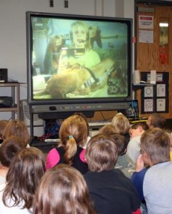 Author Barbara Techel brings her message to classrooms via Skype.