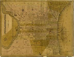 1838 Philadelphia map