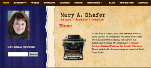 Mary Shafer author website home page