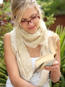 Woman reading to relax