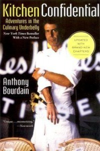Book cover, Kitchen Confidential: Adventures in the Culinary Underbelly
