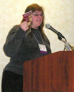 Mary Shafer presents an author marketing session at the Cat Writers Association Annual Conference
