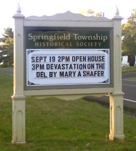 Springfield Historical Society Sign