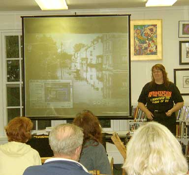 Mary presents her Flood of '55 talk to the Lambertville Historical Society
