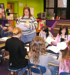 Mary Shafer Teaches Writing to Sixth Graders