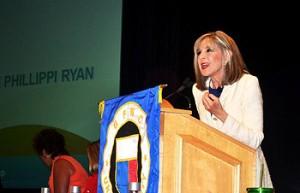 Keynote speaker Hank Philippi Ryan enraptures her audiences.